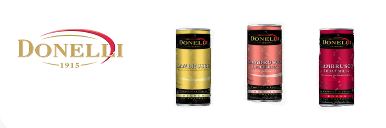 Donelli wine in cans