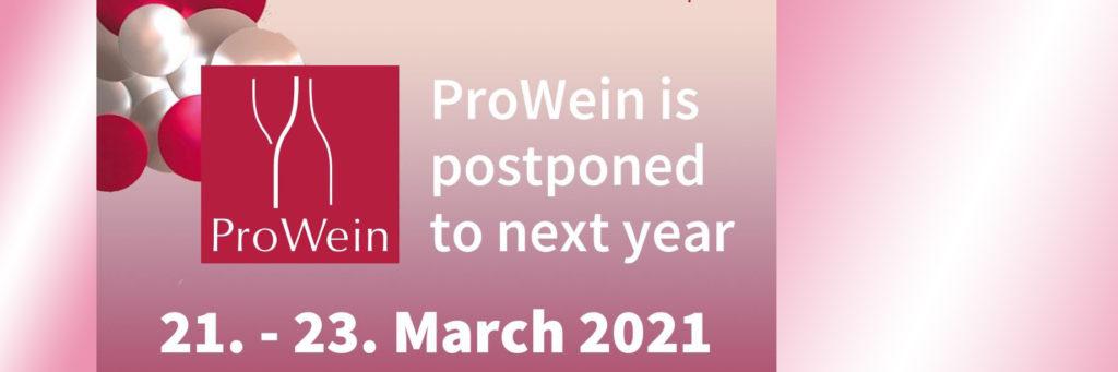 PROWEIN 2020 POSTPONED!
